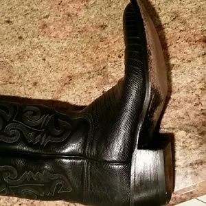Lucchese Shoes - Women's Lucchese Lizard Boots, size 8.5 B